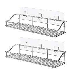 ODesign Adhesive Bathroom Shelf Organizer Shower Caddy Kitchen Storage Rack Wall Mounted No Dril ...