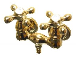 Kingston Brass CC37T2 Vintage Leg Tub Filler, Polished Brass