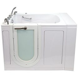 Ella OA3052H-L Malibu Acrylic Walk-in Hydro Massage Bathtub, LHS Outward Swing Door, Thermostati ...