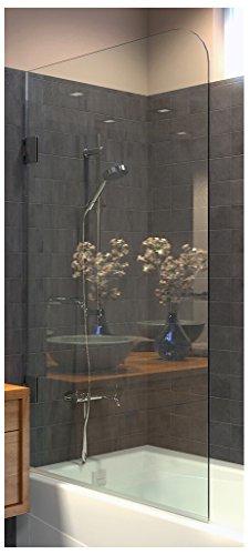 Ark Showers Frameless Bathtub Shower Screen, Pivot Door, 64 X 33.5, 5/16 (8mm) Glass With Round  ...