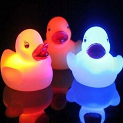 Yellow Ducks Light-Up Bath Toys Flashing Light (3 Pack), Baby Shower Tub Toys Color Changing in  ...