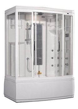 Aston ZAA208-L 9 Body Jets Steam Shower with Whirlpool Bath, 59-Inch x 37-Inch x 86-Inch, White, ...