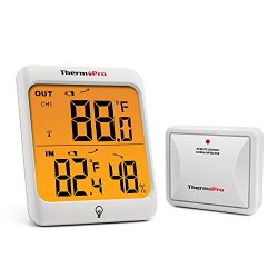 ThermoPro TP63 Digital Wireless Hygrometer Indoor Outdoor Thermometer Wireless Temperature and H ...