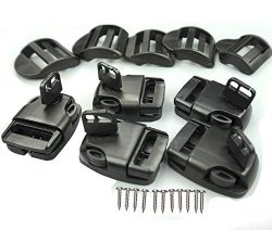 5 Set Spa Hot Tub Cover Latch Broken Latch Repair Kit -Replace Latches Clip Lock with Keys and H ...