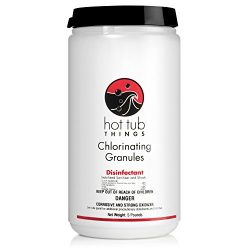 Hot Tub Things Chlorine Granules 5 Pounds – Keeps Your Spa Water Safe and Sanitized