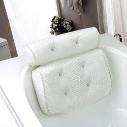 AOSGYA Luxury Spa Bath Pillow for Tub, 3D Air Mesh Bathtub Pillow for Head Neck Rest, Shoulder a ...