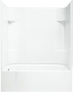 STERLING 71140110-0 Accord Bath and Shower Kit, 60-Inch x 30-Inch x 77.75-Inch, Left-Hand, White