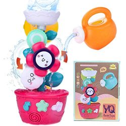 Liberty Imports Wall Mountable Bathtub Waterfall Bath Toy Water Station with Suction Cups, Gears ...