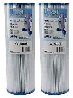 2) New Unicel C-4308 Spa Hot Tub Replacement Filter Cartridges 25 Sq Ft FC-6305