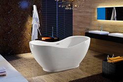 Akdy Bathroom White Color FreeStand Acrylic Bathtub AZ-F290
