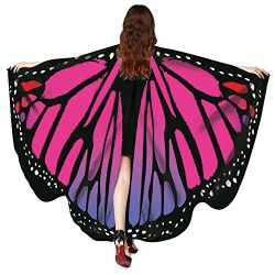 Clearance Sale! Wobuoke Women Butterfly Wings Shawl Scarves Fairy Ladies Nymph Pixie Poncho Cost ...