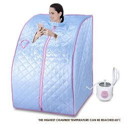 KUPPET Portable Folding Steam Sauna 2L One Person Home Sauna Spa for Full Body Slimming Loss Wei ...