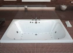 Atlantis Whirlpools 4860ndr Neptune Rectangular Air & Whirlpool Bathtub, 40 X 60, Center Dra ...