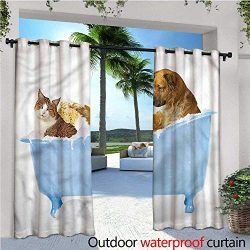 warmfamily Cat Outdoor Privacy Curtain for Pergola Dog and Cat in Bathtub Thermal Insulated Wate ...