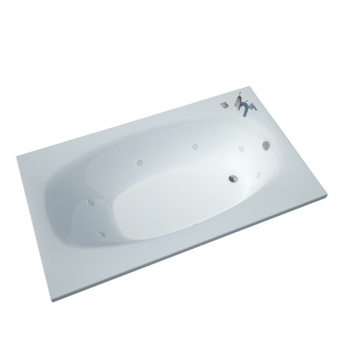 Atlantis Whirlpools 3672pwl Polaris Rectangular Whirlpool Bathtub, 36 X 72, Left Drain , White
