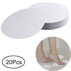 XWJJ Safety Shower Treads anti-slip, 20 pieces Safety Walk Self Adhesive Non-Slip Discs Tape Bat ...