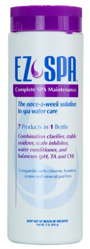 EZ Spa Total Hot Tub Care: Clarifier, Oxidizer, Scale Inhibitor, Balancer – 2 lb. Bottle