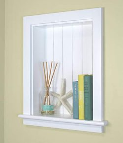 14×18 Recessed Aiden Wall Niche by Fox Hollow Furnishings (White w/NO shelf)
