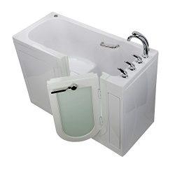 Ella OA2660-L-HB Lounger Walk-in Bathtub, 27″ x 60″ x 43″, White