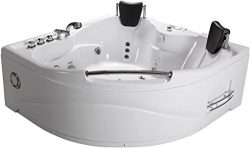 SDI Deals 2 Person Jetted Massage Hydrotherapy Bathtub Tub Indoor – 005A – White