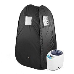Asixx Steam Sauna, 2L Portable Sauna Home Spa Steamer Loss Weight Slimming Skin Spa Machine with ...