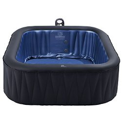 M-spa mspa Tekapo Inflatable Hot Tub | Relaxation and Hydrotherapy Outdoor Portable Jacuzzi Tub  ...