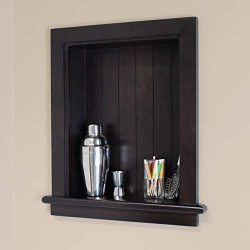 14×18 Recessed Aiden Wall Niche by Fox Hollow Furnishings (Dark Brown w/NO shelf)