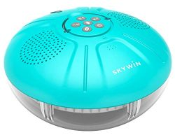 Skywin Hot Tub Speakers and Speakerphone – Disco Light Floating Waterproof IPX7 Large Wire ...