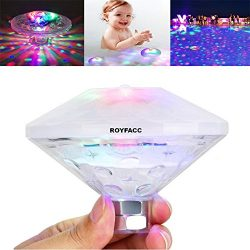 ROYFACC Pool Led Tub Lights Floating Lamp for Bath Disco Pond Swimming Pool Child Bath Toys, 7 M ...