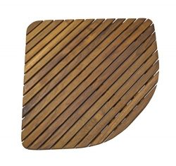 SeaTeak 60023 Teak Shower or Door Mat, Oiled Finish, Triangular