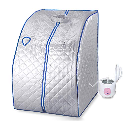KUPPET 2L Portable Folding Steam Sauna-One Person Home Sauna Spa for Full Body Slimming Loss Wei ...