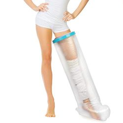 Leg Cast Cover for Shower, Waterproof Seal Tight Adult Leg Cast and Bandage Protector for Shower ...