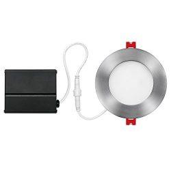 Globe Electric 4″ LED Integrated Ultra Slim Recessed Lighting Kit, 9 Watts, Energy Star, I ...