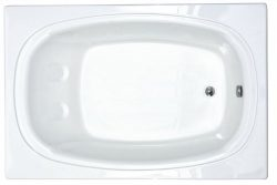 Atlantis Whirlpools 4872c Charleston Rectangular Soaking Bathtub, 48 X 72, Left Or Right Drain, Wh