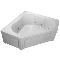 PROFLO PFWPLUSA6060RWH 60″ x 60″ Whirlpool Bathtub with 8 Hydro Jets and EasyCare Ac ...