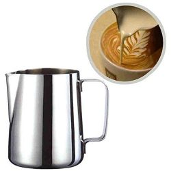 Gotian Stainless Steel Art Milk Pitcher, Milk Craft Coffee Latte Frothing Jug, Pitcher Mug Cup f ...