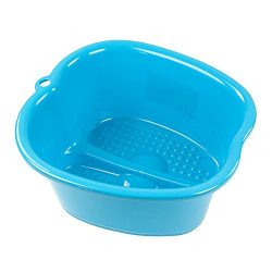 Large Foot Bath Spa Tub – Thick Sturdy Plastic Foot Basin for Pedicure, Detox, and Massage ...