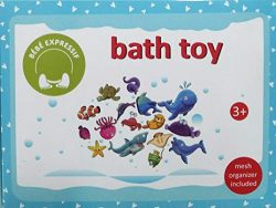 Bebe Expressif 30 Piece Sea Animals Educational Foam Bath Toys for Toddlers Boys Girls- Toy Orga ...