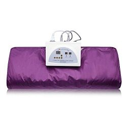 HUKOER Far-Infrared (FIR) Sauna Blanket Digital Heat Sauna Slimming Blanket Body Shaper Weight L ...
