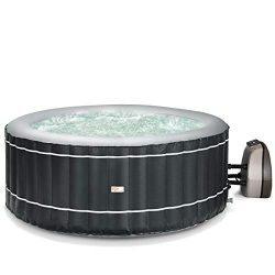 Goplus 4-6 Person Inflatable Hot Tub Portable Outdoor Spa Bubble Jet Massage Spa w/Accessories S ...