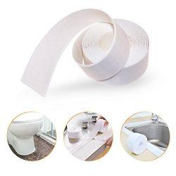 Caulk Strip PE Self Adhesive Tape for Bathtub Bathroom Shower Toilet Kitchen and Wall Sealing (6 ...