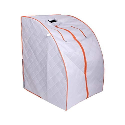ALEKO PIN11SY Personal Folding Portable Home Infrared Sauna with Folding Chair and Foot Pad for  ...