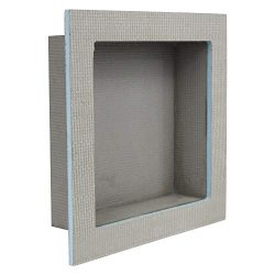 Houseables Shower Niche, Insert Storage Shelf, 12 x 12 Inch, Grey, XPS Foam, Leak-Proof, Waterpr ...
