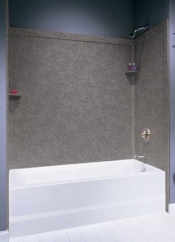 Swan SI00603.126 Solid Surface Glue-Up 3-Panel Bathtub Wall Kit, 32-in L X 60-in H, Cloud Bone