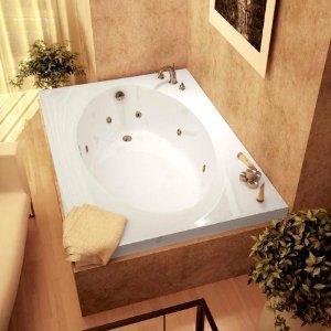 Atlantis Whirlpools 4384vwl Vogue Rectangular Whirlpool Bathtub, 43 X 84, Left Drain , White