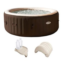 Intex PureSpa 4-Person Hot Tub with Cupholder and Headrest