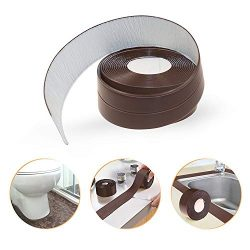 Caulk Strip PE Self Adhesive Tape for Bathtub Bathroom Shower Toilet Kitchen and Wall Sealing (3 ...