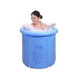 EOSAGA Inflatable Portable Tubs PVC Bath Tub Portable Soaking Tub Inflatable Spa For Adult Bathr ...