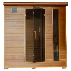 Radiant Saunas BSA1323 6-Person Cedar Carbon Infrared Sauna, 5, Dark Woodgrain
