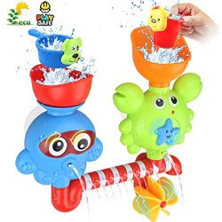 Bath Toys for Toddlers Babies Kids 1 2 3 Year Old Boys Girls Bathtub Toys Bath Wall Toy Fill Flo ...